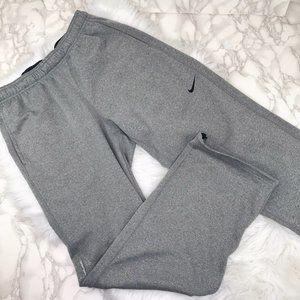 Mens Nike Pants Therma Fit Gray Ankle Sweat Pants